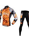 FJQXZ® Cykeltröja och tights Herr Lång ärm CykelAndningsfunktion / Håller värmen / Snabb tork / Vindtät / Ultraviolet Resistant /
