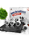 KAVASS® 4CH CCTV DVR Kit (P2P,H. 264, 4 Outdoor 480TVL Waterproof Color Cameras)