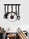 zooyoo® Batteri klockan diy köksverktyg bakrund väggklocka väggklistermärke heminredning för rum
