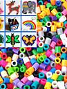 1000PCS environ perles mixtes perler fusibles perles 5mm perles hama diy puzzle eva materiau safty pour les enfants