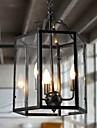 Lampe suspendue ,  Traditionnel/Classique Retro Retro Lanterne Rustique Peintures Fonctionnalite for Style mini MetalSalle de sejour