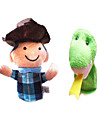 2st bonden och ormen Aisopos fabler plysch fingerdockor barn pratar prop