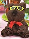 cadou de ziua prosop creative fibre formă de urs (culoare aleatorii)