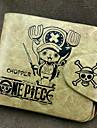 Väska / Plånböcker Inspirerad av One Piece Tony Tony Chopper Animé Cosplay Accessoarer Plånbok Gul Läder / PU Läder Man