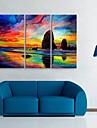 toile tendue art de la couleur du ciel decoratif ensemble de trois de peinture