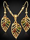 Les boucles d\'oreilles de nouveaux mignons femmes en or 18 carats plaque strass autrichien exquis