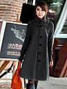 한국어 윈드 코트 재킷 겉옷 여성의 긴 섹션