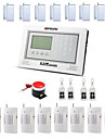 ZONEWAY® GSM40A Wireless GSM SMS Touch Screen Burglar Alarm System(Auto-dial,10 Wireless Defense Zones)