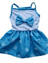 Dog Dress Red / Blue Dog Clothes Summer Bowknot