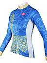 PALADIN® Maillot de Cyclisme Femme Manches longues Velo Respirable / Sechage rapide Maillot / Hauts/Tops 100 % PolyesterPrintemps / Ete /