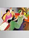 Peint a la main Personnage Un Panneau Toile Peinture a l\'huile Hang-peint For Decoration d\'interieur
