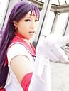 Cosplay Peruker Sailor Moon Sailor Mars Lila Lång Animé Cosplay Peruker 100 CM Värmebeständigt Fiber Kvinna