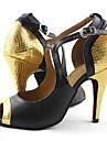 Chaussures de danse(Noir) -Non Personnalisables-Talon Aiguille-Similicuir-Latine