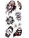 crane roi 1pc tatouage impermeable echantillon moule autocollant tatouages temporaires pour l\'art du corps (18.5cm * 8.5cm)