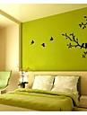 jiubai® träd och fåglar väggklistermärke väggdekal