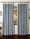 moderna två paneler helt blå vardagsrum polyester panelgardiner draperier