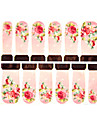 12PCS Flower Pattern Watermark Nail Art Stickers C3-017