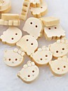 chat tete album scraft coudre des boutons en bois de bricolage (10 pieces)