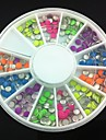 3mm Mixed Color Roundness Rivet Nail Art Decorations