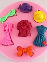 brudbuketter kjol fondant tårta choklad silikonform
