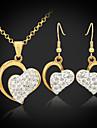 placat cu aur de 18k u7® austriac SWA stras inima Shamballa bijuterii seturi cadou bijuterii pentru femei