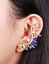 Fashion Punk Gold Rhinestone Acrylic Gecko Ear Cuff Random Color