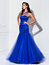TS Couture® Prom / Military Ball / Formal Evening Dress - Royal Blue Plus Sizes / Petite Trumpet/Mermaid One Shoulder Floor-lengthStretch Satin /