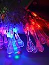 jiawen® 4m 20leds RGB LED gouttelettes d\'eau des guirlandes guirlande lumineuse de Noel pour la decoration (AC 110-220V)