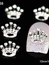 10pcs anniversaire couronne en strass accessoires en alliage de bricolage nail art decoration