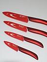 4 st 3 \'\' / 4 \'\' / 5 \'\' / 6 \'\' blomma tryckt keramisk kniv set med omslag