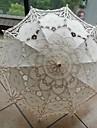 Casamento / Praia / Diario / Mascarilha Renda / Algodao Guarda-chuva 26polegadas (Aprox.66cm) Metal / Madeira 30.7polegadas (Aprox.78cm)