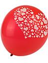 taille extra large coeur rouge epais casses ballons ronds - ensemble de 24