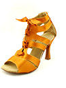 Customized Satin Latin/Ballroom Fashion Dance Performance Shoes For Women (More Colors)