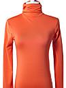 manches longues col haut hiver t-shirts oranges