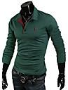 Shirt Glory tricou cu guler mânecă lungă solid Culoare Dotat