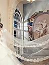 Voal de Nuntă Un nivel Voaluri de Catedrală Margine cu Aplicație de Dantelă 157.48 în (400cm) Tul Satin