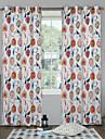 twopages® hjärtformade wetercolor gardin (två paneler)