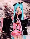 Inspire par Vocaloid Hatsune Miku Anime Costumes de cosplay Costumes Cosplay / Kimono Mosaique Noir Manche LonguesVeste Kimono / Jupe /