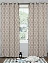 Deux Panneaux Designer Geometrique Comme image Chambre a coucher Polyester Panneau Rideaux rideaux