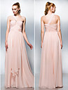 TS Couture Formal Evening / Prom / Military Ball Dress - Pearl Pink Plus Sizes / Petite A-line / Princess One Shoulder / Sweetheart Floor-length