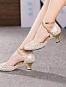 Chaussures de danse (Bleu/Rose/Argent/Or) - Non personnalisable - Talon Large - Cuir - Moderne