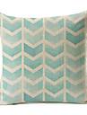 ljusblå geometriskt mönster bomull / linne dekorativa örngott
