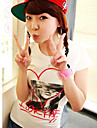 nyanländ härliga hjärt tjej kortärmad t-shirt vit