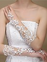 Elbow Length Fingerless Glove Lace/Polyester Bridal Gloves