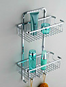 "Bathroom Shelf Stainless Steel Wall Mounted 300 x 130 x 370mm (11.8 x 5.1 x 14.6"") Stainless Steel Contemporary"