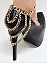 alliage accents de la chaine a quatre couches decoratives pour les chaussures une pcs (plus de couleurs)