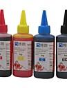 Bloom colorant encre compatible 100ml de recharge d\'encre pour HP Tout d\'imprimante a jet d\'encre pour HP dedie CISS (4 couleurs 1 lot)