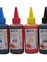 Cartouche d\'encre Bloom® 100ML Recharge Compatible pour toute imprimante a jet d\'encre Canon (4 couleurs par lot)