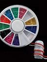 chaine 12colors roue de bricolage ongles vernis mis Nail Art Decoration