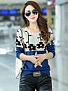 Women\'s Korean Sun Flower Round Collar Fit Pullover Knitwear Kintted Sweater